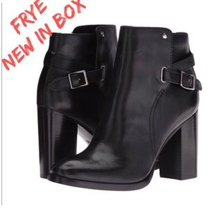 Frye Black Boots Chunky Heel (Sold Out Everywhere)